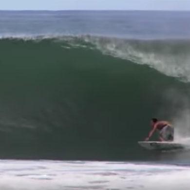 Ben Bourgeois surfing Nicaragua